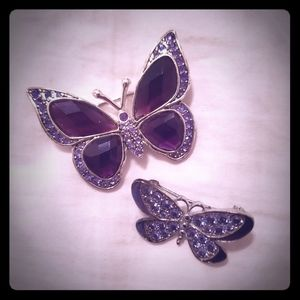 BUTTERFLY BROOCHES SET
